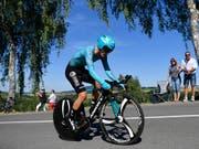 Pello Bilbao bescherte dem kasachischen Team Astana den Etappensieg in l'Aquila (Bild: KEYSTONE/GIAN EHRENZELLER)