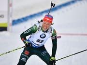 Doppel-Olympiasiegerin Laura Dahlmeier beendet mit nur 25 Jahren ihre Biathlon-Karriere (Bild: KEYSTONE/EPA TT NEWS AGENCY/ANDERS WIKLUND)