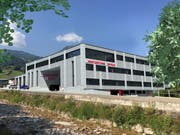 Visualisierung des umgebauten und erweiterten Werkgebäudes Beckenried. (Visualisierung: PD)