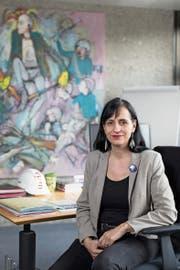 Mächtige Gewerkschaftsfrau: Vania Alleva in ihrem Büro in Bern. (Bild: Raphael Hünerfauth, 12. April 2019)