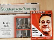 Medienspiegel zur Videoaffäre von Vizekanzler und FPÖ-Chef Heinz-Christian Strache: Strache hat für 12 Uhr eine Erklärung angekündigt. (Bild: KEYSTONE/APA/APA/HANS PUNZ)