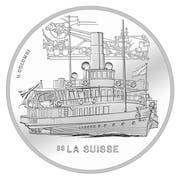 Sondermünze 2018 mit Dampfschiff. (Bild: PD)