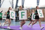 Die jüngsten Cheerleaderinnen am Samstag bei ihrem grossen Auftritt. (Bild: PD)