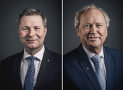 Für sie geht's weiter in der Luzerner Regierung: Marcel Schwerzmann und Paul Winiker.