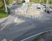 Die Unfallstelle vom Freitagabend im Riethüsli ob St.Gallen. (Bild: Stadtpolizei St.Gallen - 17. Mai 2019)