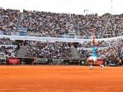 Rafael Nadal behält im Foro Italico von Rom gegen Novak Djokovic die Oberhand (Bild: KEYSTONE/EPA ANSA/ETTORE FERRARI)