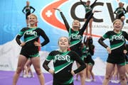 Top-Resultate in Martigny: die FCSG-Cheerleader. (Bild: PD)