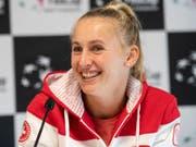 Jil Teichmann bestreitet in Prag das erfolgreichste Turnier ihrer Karriere (Bild: KEYSTONE/ADRIEN PERRITAZ)