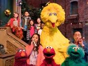 Nun ist klar, wo sich die Sesamstrasse aus der gleichnamigen US-Kinderserie befindet: In New York wurde ein Teil einer bestehenden Strasse am Südwestende des Central Parks umbenannt. (Bild: KEYSTONE/AP HBO)