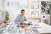 Comiczeichner Dario Forlin vom Kollektiv Gaffa. (Bild: Urs Bucher - 11. September 2018)