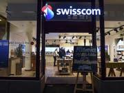 Ein Geschäft von Swisscom (Archivbild). (Bild: KEYSTONE/MELANIE DUCHENE)