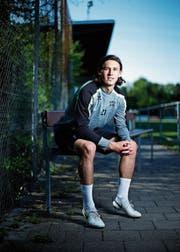 Fühlt sich beim SC Cham wohl: Rafael Muff. (Bild: Stefan Kaiser (Cham 1. Mai 2019))