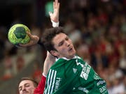 Nach drei Spielen Verletzungspause tat Thuns wichtigster Einzelspieler, der Internationale Nicolas Raemy, wieder mit. (Bild: KEYSTONE/MELANIE DUCHENE)