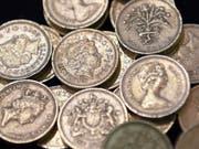 Britische Ein-Pfund-Münzen. (Bild: KEYSTONE/EPA/ANDY RAIN)