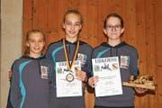 Ursina Lippuner, Annatina Lippuner, Yara Vetsch (von links). (Bild: PD)