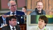 Zählen zu den Unterzeichner der Charte (von links oben im Uhrzeigersinn): Fredy Fässler, Beat Hirs, Susanne Hartmann und Cornel Egger. (Bilder: Regina Kühne, Urs Bucher)