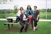 So präsentiert sich das Leitungsteam des neu gegründeten Frauennetzes in Neuenkirch (von links): Simone Schmid, Monika Bürkli, Sandra Odermatt und Heidi Wigger. (Bild: Manuela Jans-Koch (2. Mai 2019))
