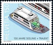 Eine der Jubiläumsmarken der Post. (Bild: die Post)