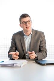 Mike Egger, Ständeratskandidat SVP. (Bild: Mareycke Frehner)