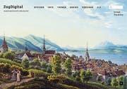 Die Startseite von www.zugdigital.ch. Das Portal ist ein übersichtlicher Wegweiser zur Zuger Geschichte und Kultur. (Bild: PD)