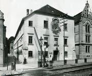 Das Theater Konstanz im Jahr 1934 - noch ohne den markanten Bühnenturm. (Bild: Stadtarchiv Konstanz)