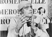 Niki Lauda an der Pressekonferenz vor dem GP von Italien – 42 Tage nach seinem Horror-Unfall. (Bild: AP)