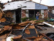 Von einem Tornado zerstörtes Haus in Abilene, Texas. (Bild: Keystone/AP/RONALD W. ERDRICH)
