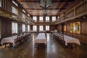 Der historische Saal des Hotels Linde in Heiden soll künftig stärker vermarktet werden. (Bild: Benjamin Manser)