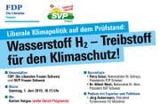 Ausschnitt aus dem Flyer zum Klimaevent. (Bild: Screenshot frauen-fdp.ch)