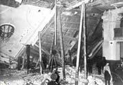 Der Bürgerbräukeller nach dem Anschlag am 8. November 1939. 63 Menschen wurden verletzt. Hitler entkam dem Attentat. (Bild: Getty)