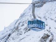 Nach monatelangem Unterbruch des Betriebs kann die Säntis-Schwebebahn diesen am 29. Mai wieder aufnehmen. (Bild: Keystone/Gian Ehrenzeller)