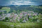 Das Gebiet Oberhofstetten im Riethüsli von der Solitüde aus gesehen. Es ist seit 2008 mit der Buslinie 10 erschlossen. (Bild: Jil Lohse - 9. Juni 2017)