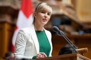 Die Thurgauer SVP-Nationalrätin Diana Gutjahr wird am Klimaevent das Grusswort sprechen. (Bild: Peter Klaunzer/Keystone)