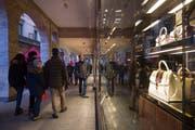 Gucci wird im Tessin dereinst nurmehr noch in den Verkaufsläden präsent sein. (Bild: Pablo Gianinazzi/Keystone, Lugano, 8. Dezember 2017)