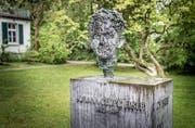 Die Gedenktafel für Johann Georg Elser bei der Schwedenschanze in Konstanz. (Bild: Andrea Stalder)