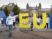 In den Niederlanden hat am Donnerstag die Europawahl begonnen. (Bild: KEYSTONE/EPA ANP/KOEN VAN WEEL)