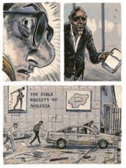 """""""Salzhunger"""" von Matthias Gnehm spielt in der nigerianischen Ölhafenstadt Lagos. Es geht um schmierige Machenschaften. (Bild: Edition Moderne)"""