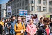 Klimastreik am 24. Mai in St.Gallen. (Bild: Adriana Ortiz Cardozo)