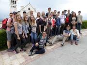 Die Firmanden auf ihrer Reise nach Mittelitalien. (Bild: PD)