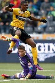 Kwadwo Duah, hier noch im Dress der Young Boys, spielt die nächsten zwei Saison für den FC Wil. (Anthony Anex/KEY)