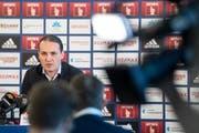 Muss sich nach der Entlassung von René Weiler rechtfertigen: FCL-Sportchef Remo Meyer. (Bild: Peter Flüeler (Luzern, 18. Februar 2019))