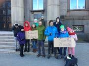 Auch in Riga wird auf das Klima aufmerksam gemacht.