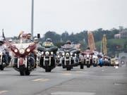 Mit einer riesigen Parade haben mehr als 100'000 Motorradfahrer in Washington der Kriegstoten der USA gedacht. (Bild: KEYSTONE/EPA/SARAH SILBIGER)