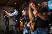 Die Band Jeff Scroggins & Colorado aus den USA am Bluegrass Festival. (Bild: Philipp Schmidli, Ettiswil, 25. Mai 2019)