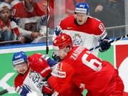 Russland und Tschechien lieferten sich eine unterhaltsame Partie (Bild: KEYSTONE/AP/PETR DAVID JOSEK)
