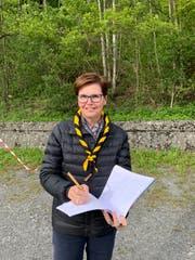 Romy Müller engagiert sich als ehrenamtliche Bauleiterin für das Pfadiheim Uri in Erstfelder Bärenboden. (Bild: PD, Erstfeld, Mai 2019)