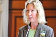 Fabienne Schnyder im Grossen Rat im Oktober 2012. (Bild: Donato Caspari)