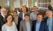 Von Links: Hans-Melk Reinhard (FDP, Sachseln, 13 Jahre), Ruth Koch, (SP, Kerns, 13), Barbara Dahinden (CSP, Giswil, 3), Walter Wyrsch (CSP, Alpnach, 14), Leo Spichtig (CSP, Alpnach, 13), Urs Keiser (CVP, Sarnen, 9), Markus Ettlin (CVP, Kerns, 9) und Hans Unternährer (SVP, Kerns, 10). (Bild: Markus von Rotz (Sarnen, 24. Mai 2019))