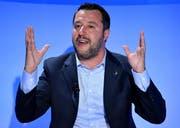 Matteo Salvini Parteichef Lega. (Bild: EPA/ETTORE FERRARI)