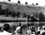 Stolze Kulisse: 45 000 Zuschauer besuchten den Finaltag der WM 1962. (Bild: Archiv Regattaverein Luzern, Luzern, 9. September 1962)